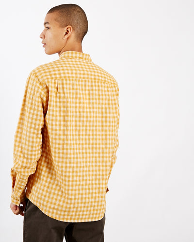 Dean Gingham Shirt Yellow Check