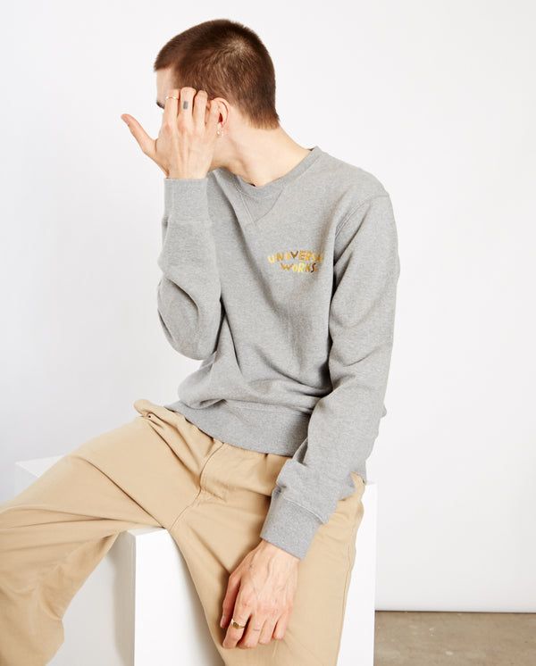 Embroidered Sweatshirt Grey Marl