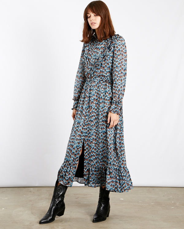 Fia Dress Peacock print