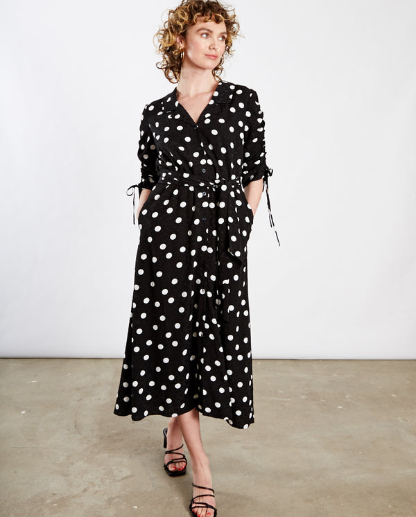 Fjola Polka Dot Dress