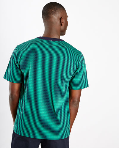 Heritage Stripe Tee Navy/Green
