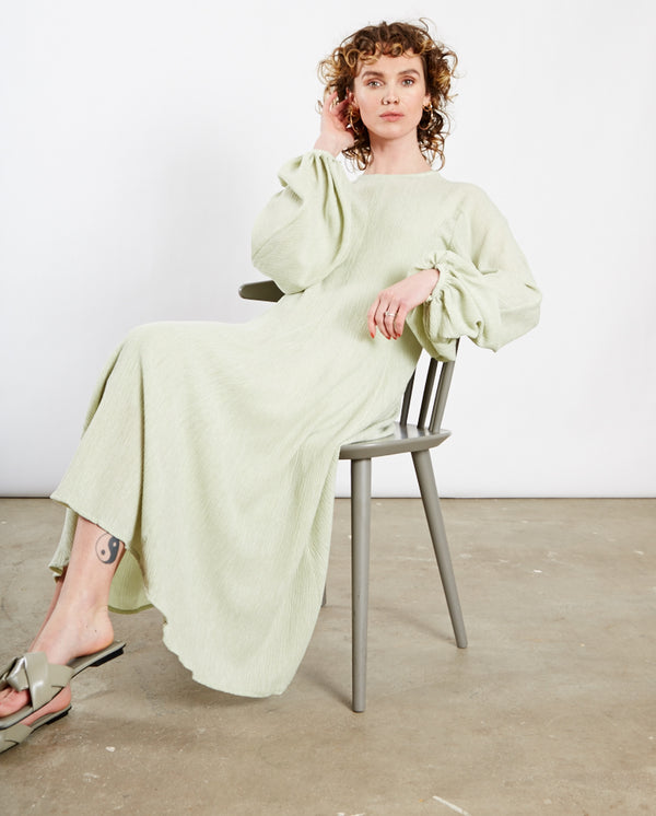 Inga Crinkled Dress Sage