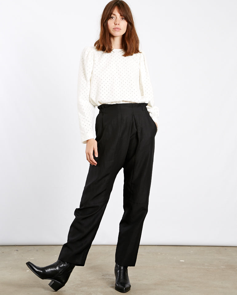 Cross Over Front Trouser BLACK