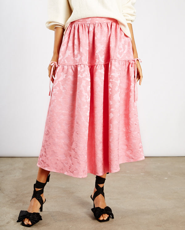 Maura Midi Skirt Distorted Pink