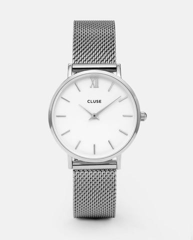 Minuit Mesh Watch Silver