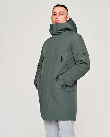 Zane Coat Faded Green