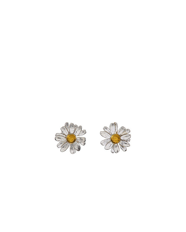 Classic Daisy Stud Earring Silver/Gold