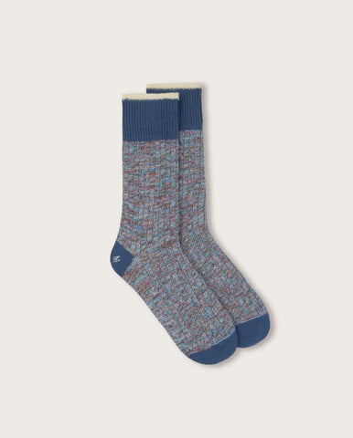 Twisted Yarn Sock BLUE