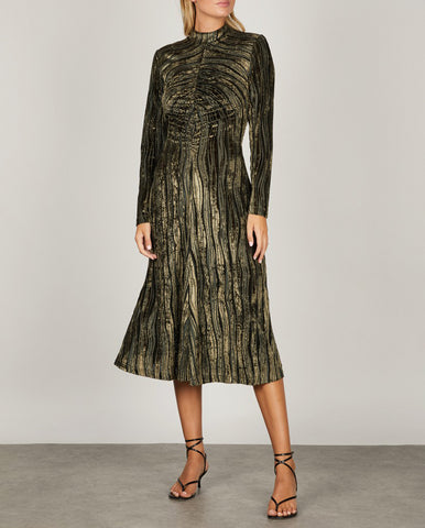 Asher Dress Wave Seaweed