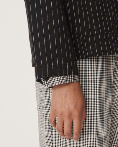 Alma Pinstripe Jacket BLACK