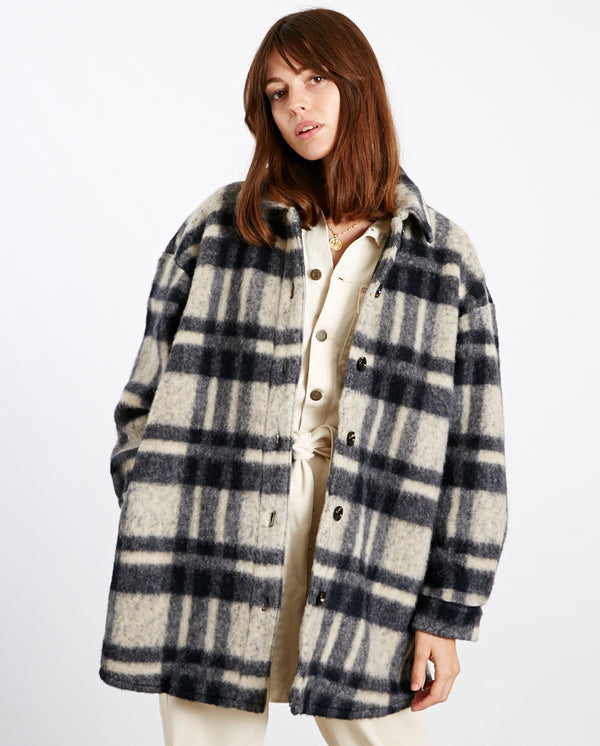 Rina Wool Check Shirt/Jacket