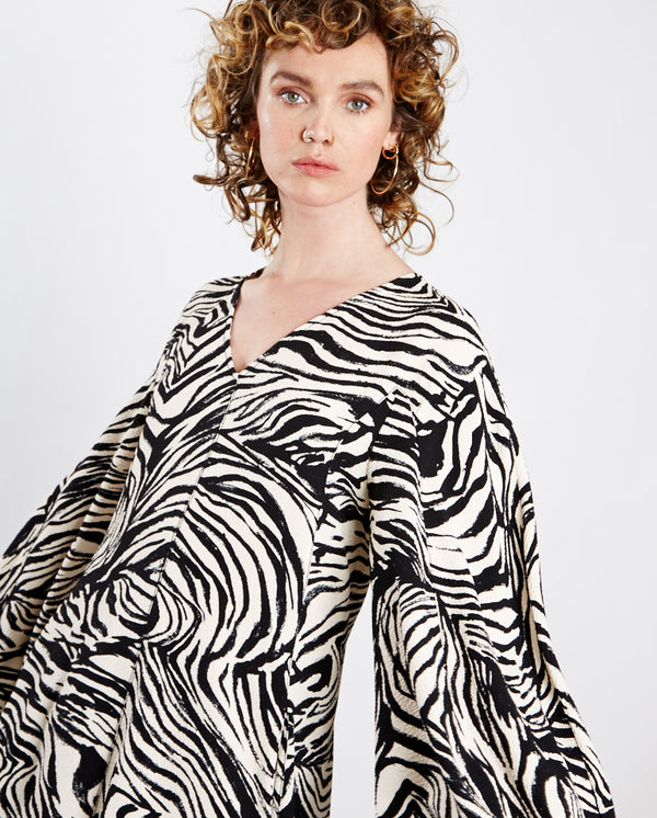 Rosen Zebra Dress Black Zebra