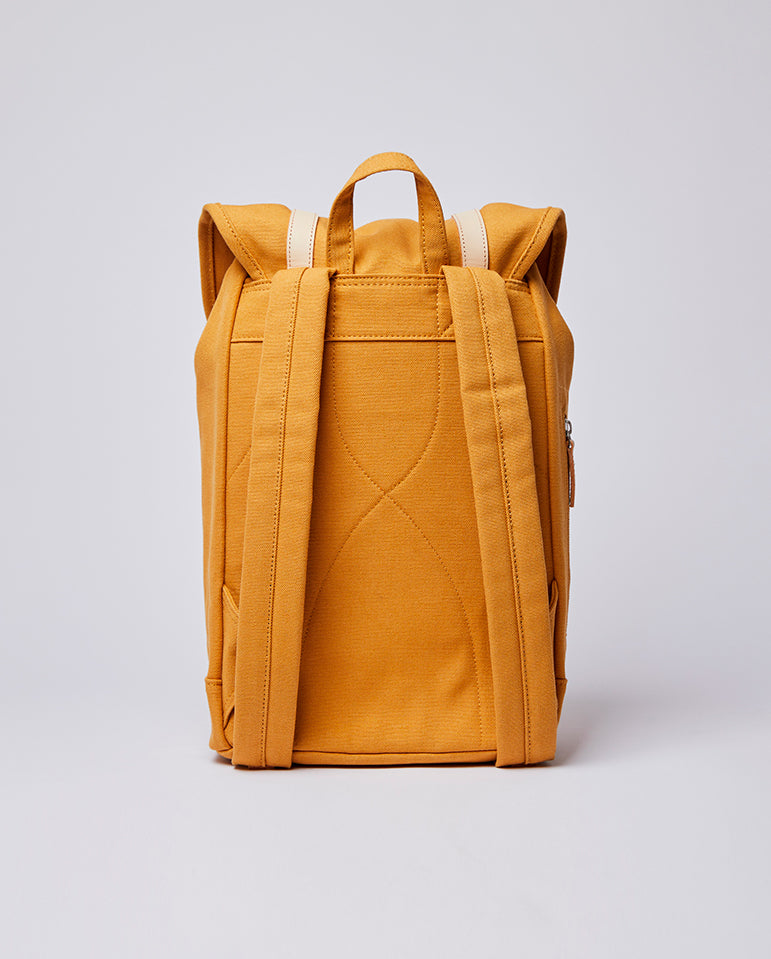 Stig Rucksack Honey Yellow / Natural Leather