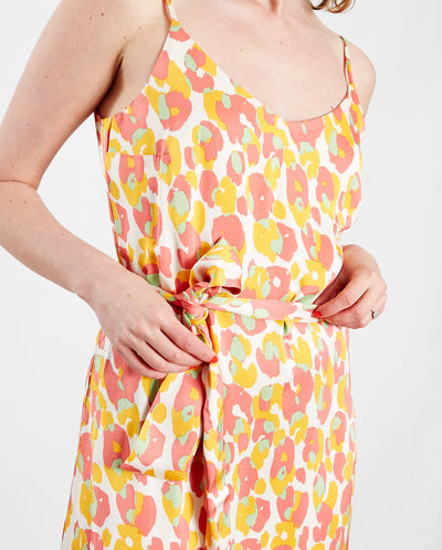 Sunset Cato Dress Loopy Leopard