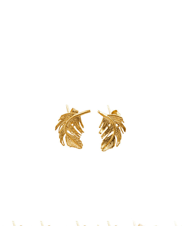 Feather Stud Earring GOLD