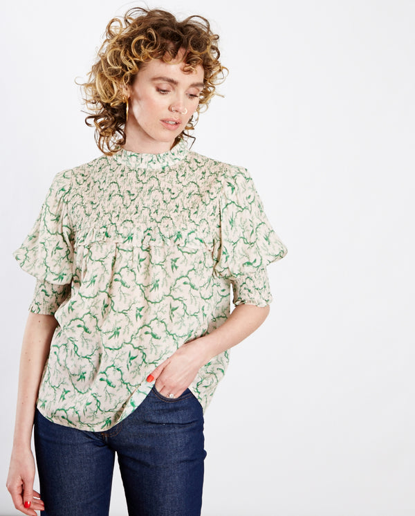 Troon Blouse Rose/Green