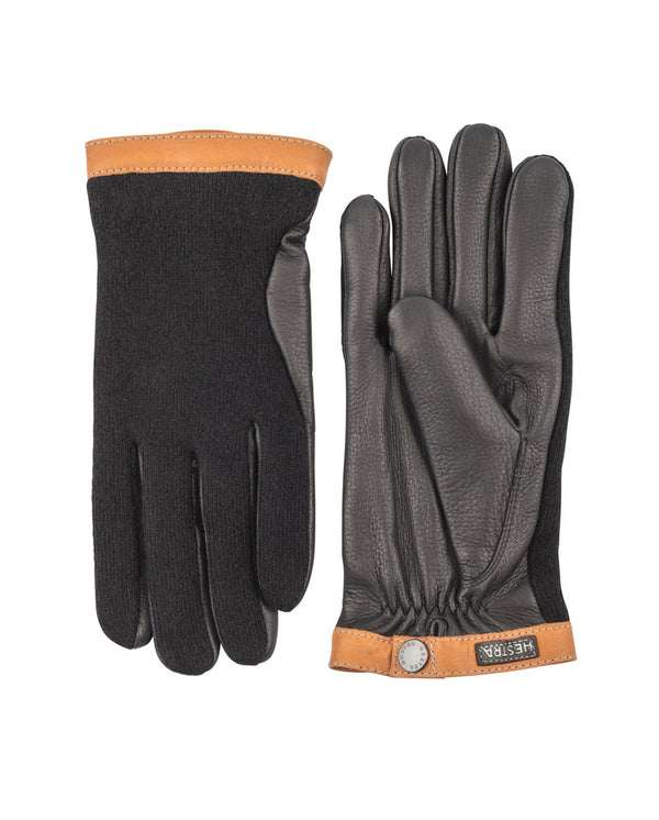 Deerskin Wool Glove BLACK