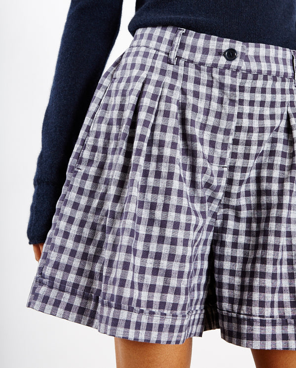 Walker Shorts Navy Gingham