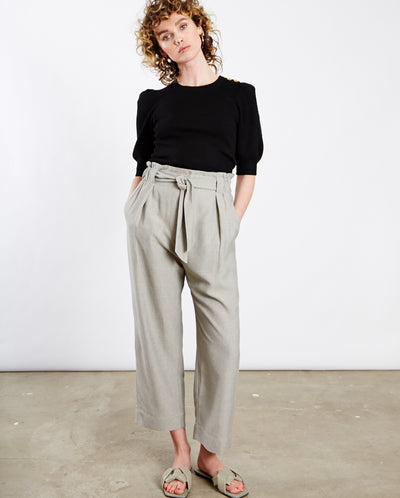 Winfield Belted A-Line Pant Cloud Grey