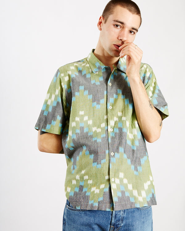 Zig Zag Road shirt GREEN