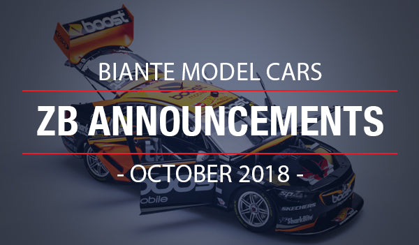 Biante New Model Announcements: 2018 Enduro Holden ZB Commodore Supercars