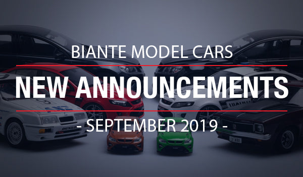 Biante New Model Announcements - September 2019