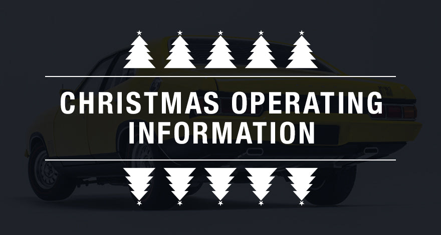 Biante Model Cars Christmas Operating Information