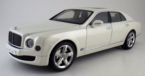 BENTLEY MULSANNE SPEED IN GHOST WHITE