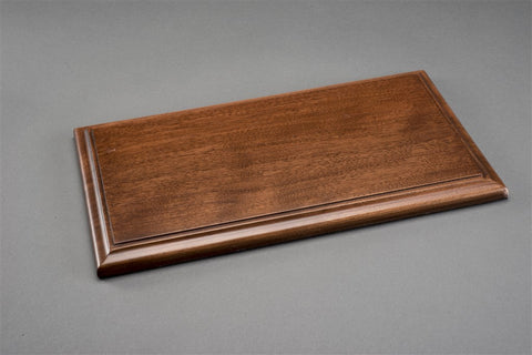 1/18 MOLSHEIM DISPLAY CASE - MAHOGANY COLOUR WOOD BASE (Wide Edge)
