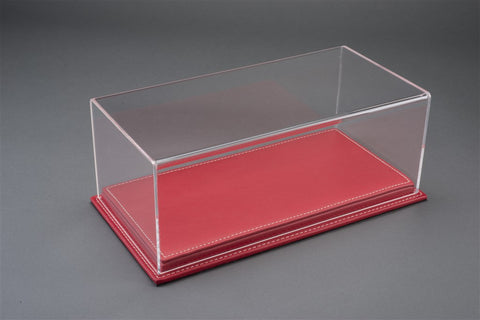 1/18 MULHOUSE DISPLAY CASE - RED LEATHER BASE