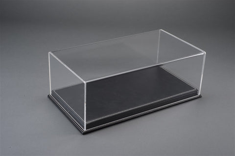 1/18 MULHOUSE DISPLAY CASE - BLACK LEATHER BASE