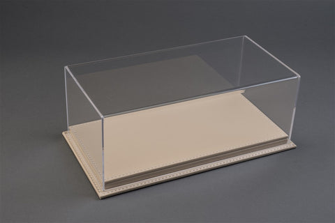 1/18 MULHOUSE DISPLAY CASE - BEIGE LEATHER BASE