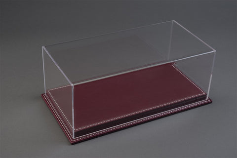 1/18 MULHOUSE DISPLAY CASE - BURGUNDY LEATHER BASE