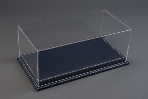 1/18 MULHOUSE DISPLAY CASE - DARK BLUE LEATHER BASE