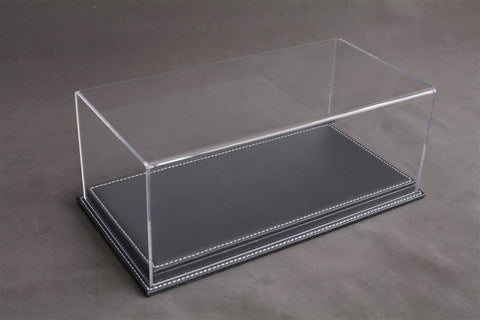 1/12 MULHOUSE DISPLAY CASE - ANTHRACITE LEATHER BASE