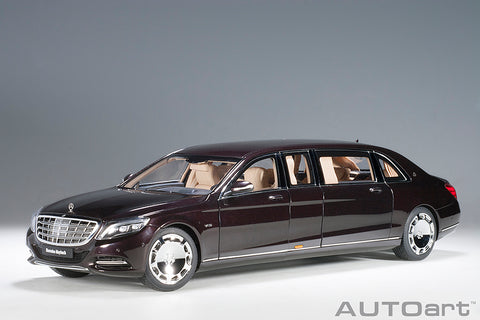 1/18 MERCEDES-MAYBACH S 600 PULLMAN (Dark Red Metallic)