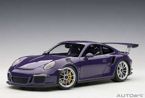 1/18 PORSCHE 911 (991) GT3 RS (Ultraviolet / Silver Wheels)