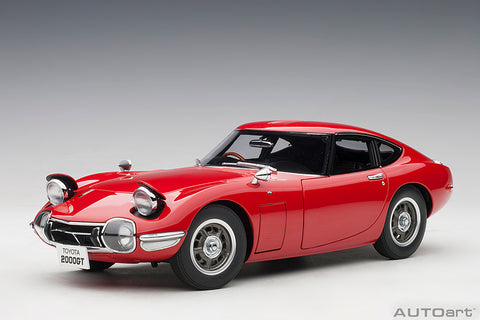 1/18 TOYOTA 2000 GT (RED)