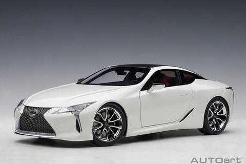 1/18 LEXUS LC 500 (METALLIC WHITE/DARK ROSE INTERIOR)