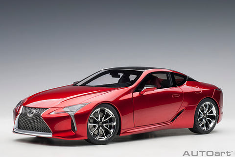 1/18 LEXUS LC 500 (Radiant Red Metallic / Dark Rose Interior)