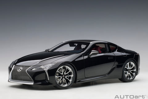 1/18 LEXUS LC 500 (Black / Dark Rose Interior)
