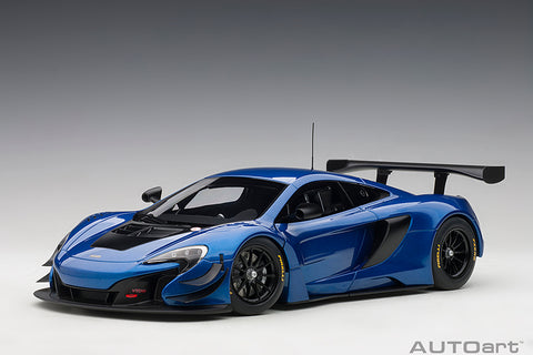 1/18 McLAREN 650S GT3 (Azure Blue / Black Accents)