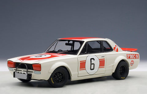 1/18 NISSAN SKYLINE GT-R (KPGC10) RACING 1971 KUNIMITSU TAKAHASHI #6 JAPAN GP WINNER