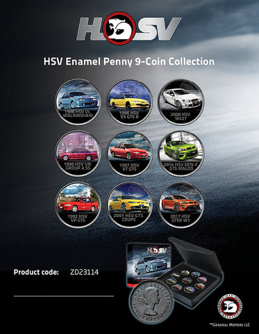 HSV ENAMEL PENNY 9-COIN COLLECTION