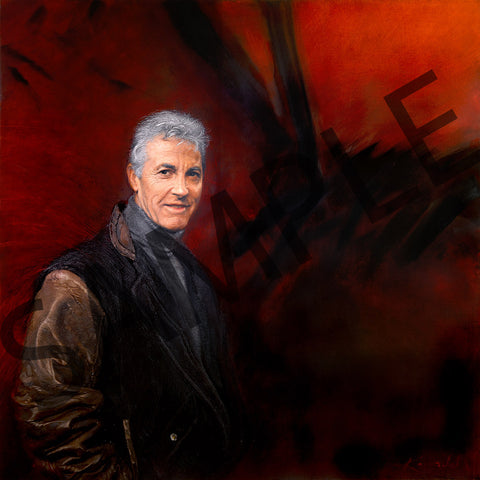 Peter Brock by Peter Kendall - VK Canvas - 45cm x 45cm