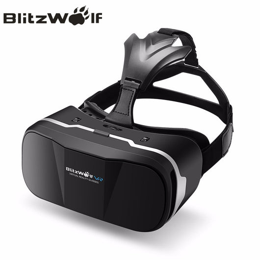 BlitzWolf Original BW-VR3 3D VR Virtual Reality Glasses Headset HeadMount For iPhone 7 6 For Samsung 3.5-6.3 inch Smartphone - Virtual Reality Canada
