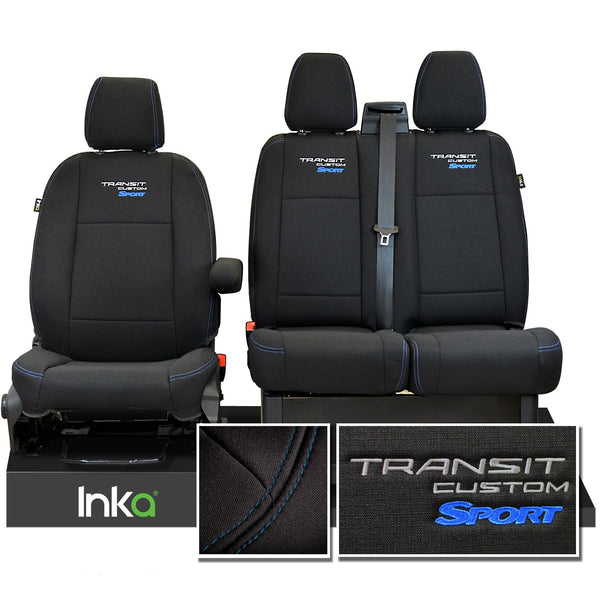 Ford Transit Custom Heavy Duty Front Seat Covers Genuine OEM MY 12-2020 [Choice of 6 Colours]