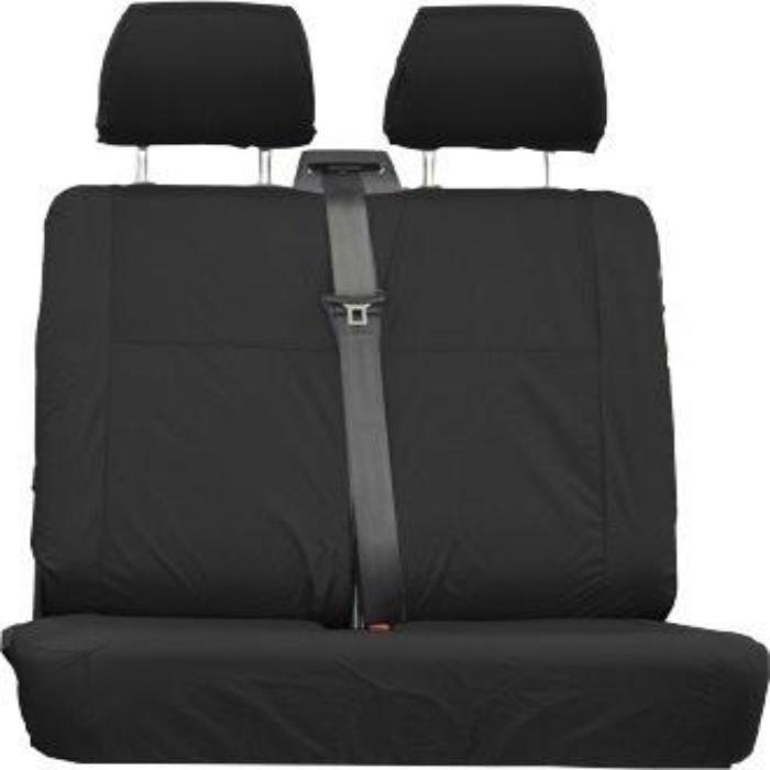 Mercedes Vito Fully Tailored Waterproof Front Double Set Seat Covers 2006 Onwards Heavy Duty Right Hand Drive Black