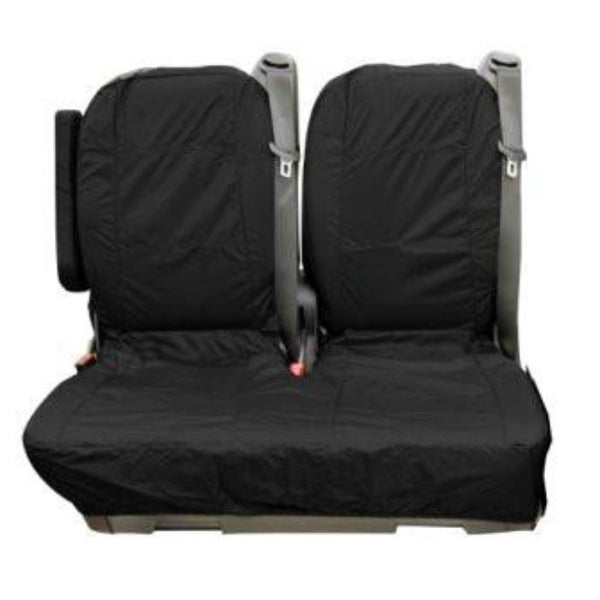 Mercedes Vito Fully Tailored Waterporoof Rear Second Row Double Set Seat Covers 2006 Onwards Heavy Duty Right Hand Drive Black