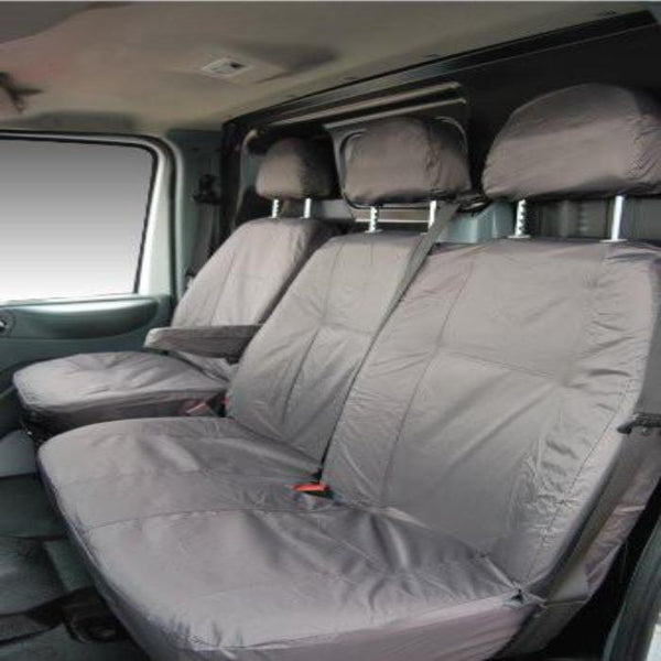Fiat Scudo Fully Tailored Waterproof Front Single and Double Set Seat Covers 2007 - 2012 Heavy Duty Right Hand Drive Grey